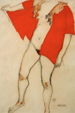 "Egon Schiele ""Rote Bluse"" 32 x 48 cm"