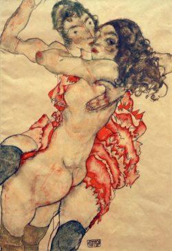 """Egon Schiele """"Zwei Freundinnen"""" 33 x 48 cm"""
