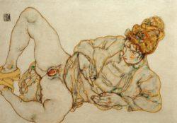 """Egon Schiele """"Liegende Entlößte"""" 45 x 31 cm"""