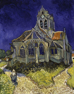 """Vincent van Gogh """"Die Kirche in Auvers-sur-Oise"""" 94 x 74,5 cm"""