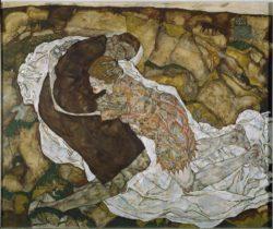 """Egon Schiele """"Der Tod und das Mädchen"""" 180 x 150 cm"""