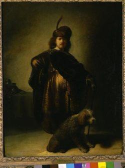 """Rembrandt """"Rembrand-Selbstbildnis-in-orientalischem-Kostüm"""" 66.5 x 52 cm"""