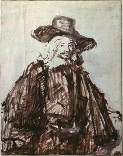 """Rembrandt """"Studie-zu-einem-Herrenporträt"""" 24.7 x 19.2 cm"""