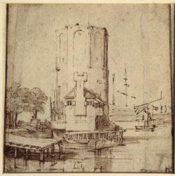 "Rembrandt ""Montelbaanstoren-in-Amsterdam"" 145 x 144 cm"