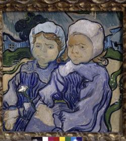 """Vincent van Gogh """"Zwei Kinder"""". Auvers 51,2 x 51 cm"""