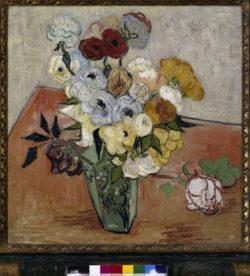 """Vincent van Gogh """"Stilleben mit japanischer Vase 51,7 x 52 cm"""