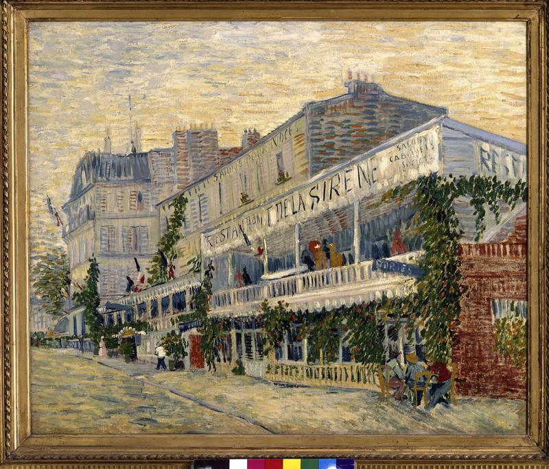 Kunstdruck Das Restaurant De La Sirene in Asnieres von.