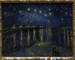 """Vincent van Gogh """"Sternennacht ueber der Rhône"""" 72,5 x 92 cm"""