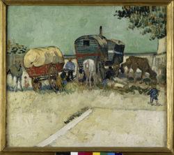 """Vincent van Gogh """"Zigeunerlager mit Pferdewagen"""", 45 x 51 cm"""