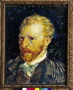 "Vincent van Gogh ""Selbstbildnis"". 44,1 x 35,1 cm"