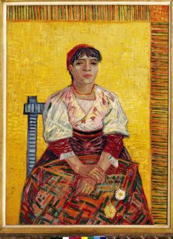 """Vincent van Gogh """"Die Italienerin"""" (Agostina Segatori) 81 x 60 cm"""