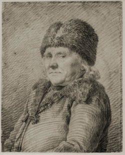 """Caspar David Friedrich """"Bildnis des Vaters Adolph Gottlieb Friedrich""""  20 x 25 cm"""
