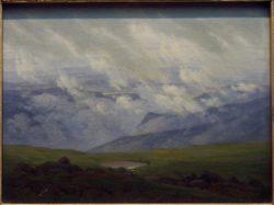 """Caspar David Friedrich """"Ziehende Wolken""""  24 x 18 cm"""