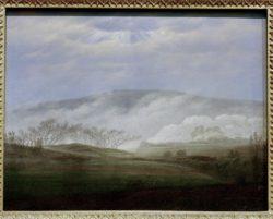 "Caspar David Friedrich ""Nebel im Elbtal""  42 x 33 cm"