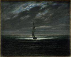 """Caspar David Friedrich """"Seestück bei Mondschein auf dem Meer""""  31 x 25 cm"""