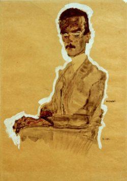 "Egon Schiele ""Bildnis Eduard Kosmack sitzend"" 31 x 43 cm"