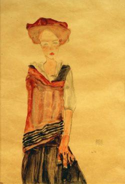 """Egon Schiele """"Stehendes Mädchen"""" 31 x 44 cm"""