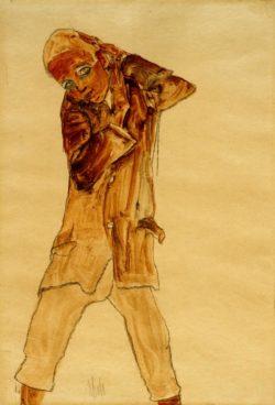 "Egon Schiele ""Knabe mit langem Rock "" 30 x 45 cm"