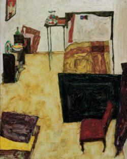 """Egon Schiele """"Das Zimmer des Künstlers in Neulengbach"""" 32 x 40 cm"""