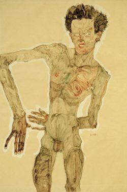 "Egon Schiele ""Aktselbstbildnis"" 37 x 56 cm"