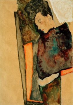 """Egon Schiele """"Die Mutter des Künstlers schlafend"""" 45 x 32 cm"""