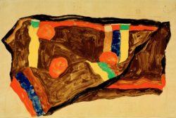 """Egon Schiele """"Mein Wandelweg führt über Abgründe"""" 48 x 32 cm"""