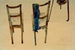 """Egon Schiele """"Kunst kann nicht modern sein Kunst ist urewig"""" 48 x 32 cm"""