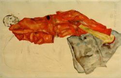 """Egon Schiele """"Den Künstler hemmen ist ein Verbrechen 2"""" 49 x 32 cm"""