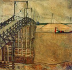 "Egon Schiele ""Die Brücke"" 90 x 90 cm"