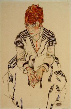 "Egon Schiele ""Adele Harms"" 29 x 44 cm"
