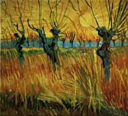 """Vincent van Gogh """"Weiden bei Sonnenuntergang"""", 31,5 x 34,5 cm"""