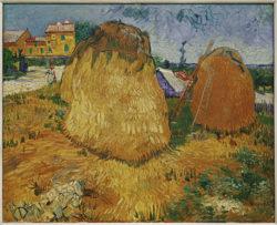 "Vincent van Gogh ""Heuschober in der Provence"" 73 x 92,5 cm"