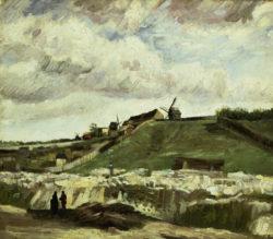 """Vincent van Gogh """"Blick auf Montmartre mit Steinbruch und Muehlen"""" 56 x 62 cm"""