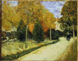 """Vincent van Gogh """"Weg im Park von Arles"""". 72 x 93 cm"""