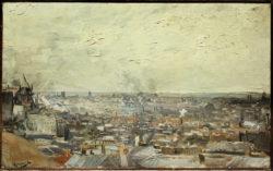 """Vincent van Gogh """"Blick auf Paris vom Montmartre"""" 38,5 x 61,5 cm"""