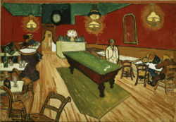 "Vincent van Gogh ""Das Nachtcafé in Arles"" (Das Nachtcafé an der Place Lamartine in Arles), 44,4 x 63,2 cm"