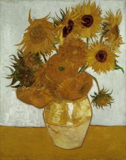 """Vincent van Gogh """"Vase mit Sonnenblumen"""" (Zwoelf Sonnenblumen in einer Vase), 91 x 72 cm"""