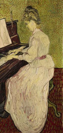 """Vincent van Gogh """"Marguerite Gachet am Klavier"""". 102 x 50 cm"""