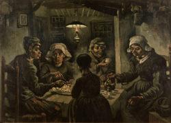 """Vincent van Gogh """"Die Kartoffelesser"""" 81,5 x 114,5 cm"""