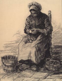 "Vincent van Gogh ""Kartoffelschaelerin"" 46 x 35,5 cm"