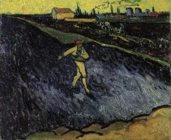 "Vincent van Gogh ""Der Saemann"". Arles 33 x 40 cm"