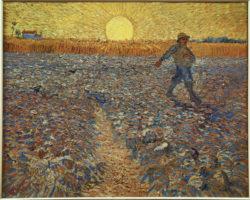 """Vincent van Gogh """"Saemann bei untergehender Sonne"""", 64 x 80,5 cm"""