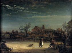 """Rembrandt """"Winterlandschaft"""" 17 x 23 cm"""