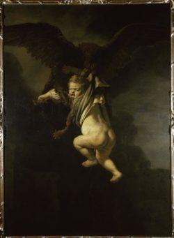 """Rembrandt """"Ganymed-in-den-Fängen-des-Adlers"""" 171.5 x 130 cm"""