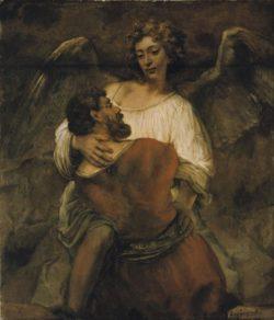 """Rembrandt """"Jakobs-Kampf-mit-dem-Engel"""" 137 x 116 cm"""