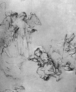 "Rembrandt ""Jakobs-Traum"" 25 x 20.8 cm"