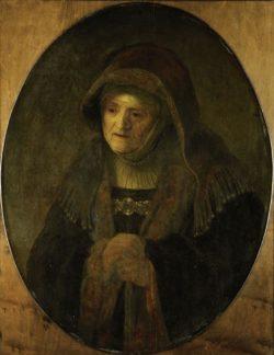 """Rembrandt """"Die-Mutter-des-Künstlers-als-Prophetin-Hanna"""" 79.5 x 61.7 cm"""