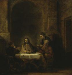 """Rembrandt """"Christus-und-die-Jünger-von-Emmaus"""" 68 x 65 cm"""