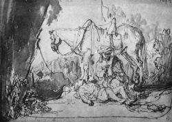 """Rembrandt """"Der-barmherzige-Samariter"""" 15.8 x 22.1 cm"""