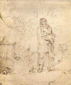 "Rembrandt ""Christus-erscheint-Maria-Magdalena"" 22.4 x 19 cm"